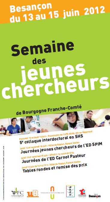 affiche Semaine Jeunes chercheurs 2012