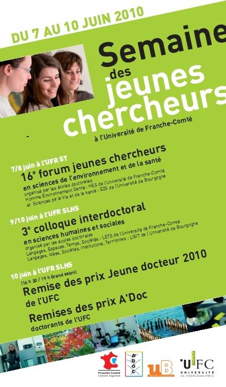 Affiche semaine des Jeunes chercheurs