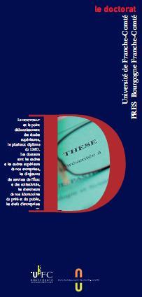 Dépliant Le Doctorat 2012
